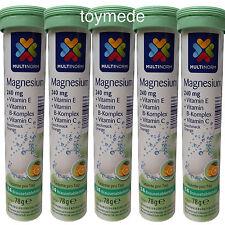 Multinorm MAGNESIUM Brausetabletten +Vitamin B,C+E 100 Stück Geschmack Orange