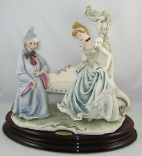 "Disney Giuseppe Armani ""CINDERELLA & FAIRY GODMOTHER"" 1421C w/Box & COA"