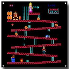 DONKEY KONG  METAL SIGN, RETRO GAME, ICONIC,ARCADE GAME, NAMCO