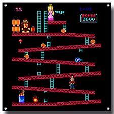 Donkey Kong letrero de metal, juego Retro, Juego Arcade, icónico, Namco