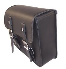 Black Leather Side Bag Motorcycle Solo Bag For Harley Davidson Dyna Models