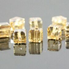 24pcs 6mm Swarovski cube crystal bead B golden-champagne AB