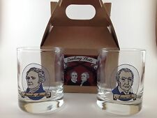 New Hamilton Broadway Play Bill Shot Glass Collector Gift Set Musical Tickets