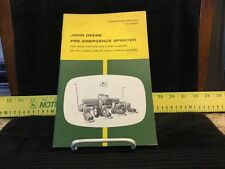 Vintage John Deere Pre-Emergence Planter Dealership Operators Manual - OM B25221