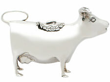 Sterling Silver Cow Creamer - 18th Century Style - Vintage 1975