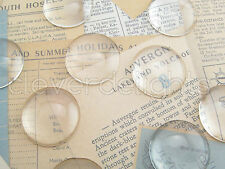 """50 Round Glass Dome Cabochons - 1 inch - 25mm - Clear Magnifying Pendant Cab 1"""""""