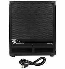 "New Rockville RBG12S Bass Gig 12"" 1400 Watt Active Powered PA Subwoofer DJ/Pro"