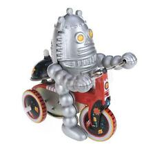 Wind Up tin toy planet Baby Robot on Tricycle scooter car model collectible
