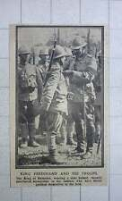 1917 King Ferdinand Of Romania Decorating Brave Troops
