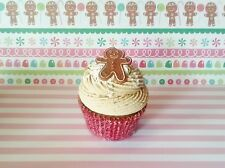 GINGERBREAD BOY FAKE CUPCAKE FOR CHRISTMAS HOLIDAY DECOR, ORNAMENTS, PHOTO PROPS