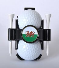 Ball Buddy Golf Ball Holder with National Flag Ball Marker - Wales