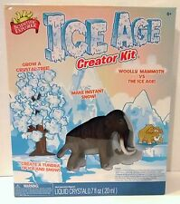 ICE AGE CREATOR KIT Crystal Tree Instant Snow Wooly Mammoth Tundra Scientific Ex