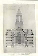 1912 Port Of London New Head Office Trinity Square Cross-section