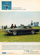 1966 Lincoln Continental 2-door - Classic Car Advertisement Print Ad J63