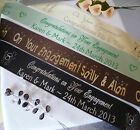 Personalised ENGAGEMENT ribbon for cakes gifts decoration flowers etc 45mm width