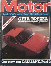 Motor magazine 24/4/1982 featuring Volkswagen Polo road test, Ghia Brezza