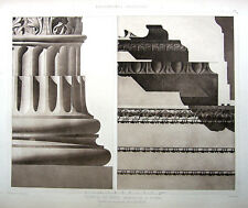 59 ~ TEMPLE MARS ULTOR 1905 CLASSICAL ROMAN Architecture DETAIL DESIGN Art Print
