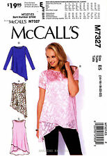 McCall's Sewing Pattern M7327 Women's 14-22 pullover Tops Tunic 7327