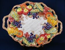 FITZ AND FLOYD Autumn Bounty Harvest Fall Thanksgiving Oval Serving Platter
