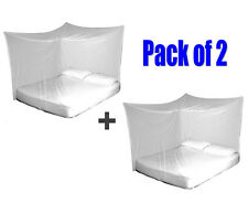 2x TravelMAX Mosquito Nets Double Queen King Size Box Insect Netting Treated