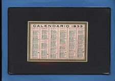 CALENDARIO ANNO 1933 SU CARTONCINO CON BORDO ORO (005)