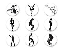 Lot Badge Button Ø38mm Music Musique Michael Jackson King of Pop MJ Bad
