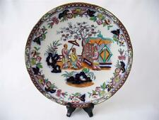 c 1845 + Minton Best Body - Chinoiserie Style - 19th c Flow Blue Plate