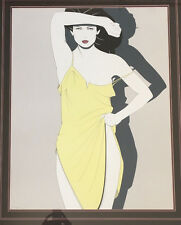 Patrick Nagel Signed Serigraph: Yellow Slip 24x30 Signed in Serigraph