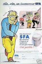Publicité advertising 2002 Sanibroyeur SFA par Bretécher
