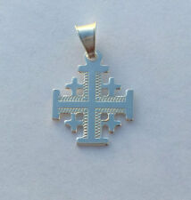 Pure Sterling Silver Jerusalem Cross Pendant From The Holy Land