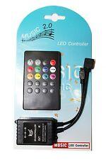 20 Key IR Sound Sensor Music Remote Controller for 3528 5050 RGB LED Strip Light