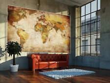 Vintage World Map Poster School Large Photo Wall Paper Antique Old Style Art Vtg