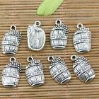 18pcs tibetan silver color grape WINE BARREL design charms EF2292