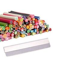 100pcs Nail Art Fimo Canes Rods Decoration + Blade