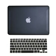 "2 in1 Rubberized BLACK Hard Case for Macbook White 13"" A1342 with Keyboard Cover"