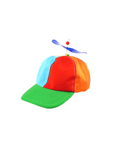 Helicopter Funny Rainbow Circus Clown Hat School Geek Fancy Dress Accessory New