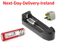 UK EU Plug Universal Battery Batteries Charger 3.7V 18650 Li-ion Rechargeable