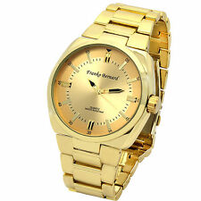 Mens Franco Bernard Gold Tone Metal Band Gold Face Fashion Quartz Wrist watch