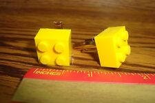 YELLOW LEGO Design Cuff links 1 Pair (Two) Hamilton Gold Plate * SPECIAL $2.50