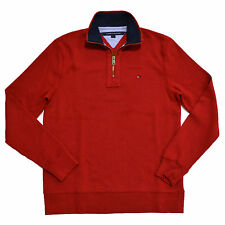 Tommy Hilfiger Jumper Mens Half Zip Pullover Mock Neck Sweater Quarter Zip New