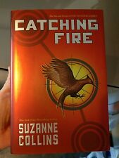 Catching Fire by Suzanne Collins, The Hunger Games (2009, Hardcover) READ ONCE