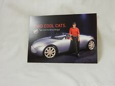 Tiger Woods Postcard Two Cool Cats Buick Bengal Concept Car 5 X 7
