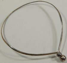 Vtg Sterling Silver Modernist Ball Collar Choker Necklace