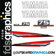 Yamaha 75hp outboard engine graphics/sticker kit