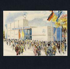 El AIA Frankfurt 1957 Mercedes-Benz-Halle coches cars * artistas-ak PC artist liska