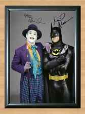 Batman and The Joker Jack Nicholson Signed Autographed A4 Poster Print Photo &