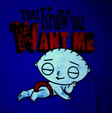 Family Guy Cartoon Stewie You Know You Want Me Royal Blue T-Shirt New Medium