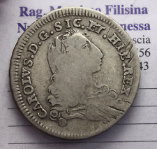 NL* REGNO DI SICILIA CARLO DI BORBONE 4 TARI ARGENTO 1736