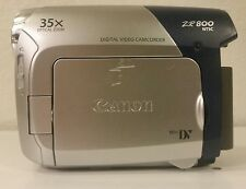Canon MiniDV ZR800 1000X Zoom & Accessories - Camera Case & 2x Battery+Charger