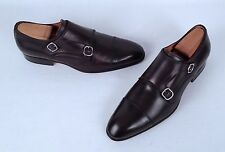 Santoni 'Windsor' Double Monk Strap Loafer-Dark Brown- Size 8 D  $780 (TB6)